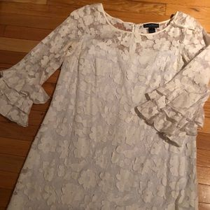 White Floral Lace Dress - Jessica Howard - Sz 14